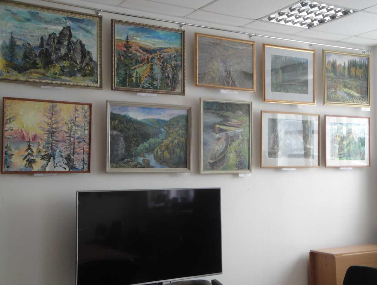 В визит-центре заповедника открылась выставка картин