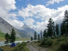 Россия, Алтай, гора Белуха, облака